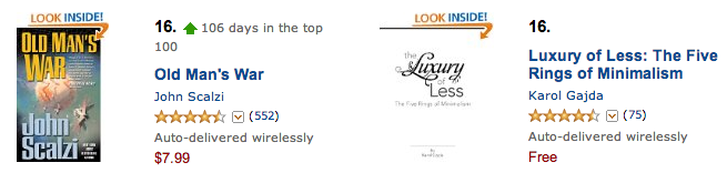 Luxury of Less Number 16 free Top 100 Amazon ebooks
